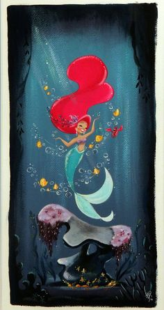 The Little Mermaid - Artwork - Under the Sea - Liana Hee - Nucleus Little Mermaid Painting, Little Mermaid Art, Mermaid Artwork, Mermaid Drawings, Disney Little Mermaids, Mermaids And Mermen, Disney Drawings, Art Drawings, Mermaid Paintings