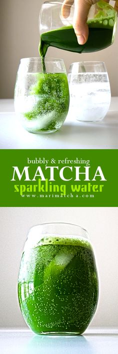 It's bubbly, refreshing, and goes well with so many different flavors! #sparklingwater #matcha #macha #抹茶 #お茶 #matchatea #matchalatte #matchalover #matchalovers #matchagreentea #matchaholic #matchaddict #greentea #greentealatte #tea #tealover #health #antioxidants #organic #natural #detox #japan #日本 #matcharecipe #recipe #recipes #antioxidants #healthy