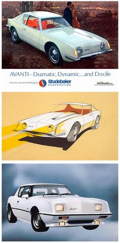 Studebaker Avanti. I loved these cars in the 60s. Only saw them in New England when I was a kid. So exotic to somebody who had to grow up in the south...