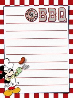 "Mickey's Backyard BBQ - Project Life Journal Card - Scrapbooking. ~~~~~~~~~ Size: 3x4"" @ 300 dpi. This card is **Personal use only - NOT for sale/resale** Logos/clipart belong to Disney. ***Click through to photobucket for more versions of this card :) ***"