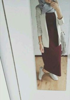 #muslim #hijab #fashion #class #converse #red #white