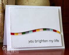 You brighten my life by Krafty Kapaid - Cards and Paper Crafts at Splitcoaststampers Card Making Inspiration, Making Ideas, Karten Diy, Rainbow Card, Card Sketches, Paper Cards, Cool Cards, Creative Cards, Greeting Cards Handmade