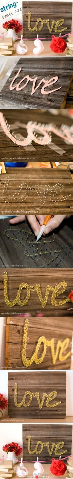 DIY String Art can be done in any name