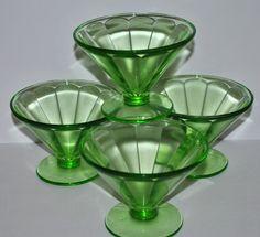 Sherbet dishes- I love depression glass.