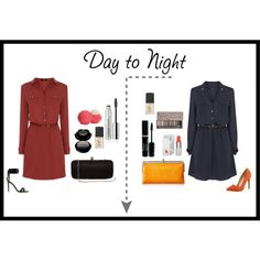 """""""Day to Night Shirt Dress Challenge"""" by elmarachma on Polyvore"""