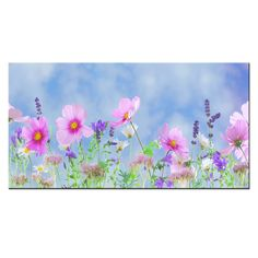 Home Decorative Landscape Painting Lavender And Gesang Flower Canvas Wall Art Fragrance Garden Dreams HD Printed Wall Murals