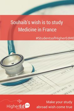 Souhaib has shared his wish to #studyabroad #Medicine in #France with his friends  Like if you want to study Medicine too :) #studentsofHigherEdMe  Make your study abroad wish too!