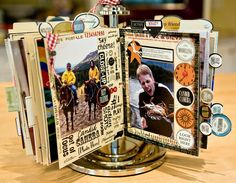 My Craft Channel: May 28: Memory Keeper Album, Photo Corners, Photo Carousel