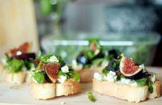 Bruschette cu Smochine, Rucola si Gorgonzola ~ Le Blog Piquant