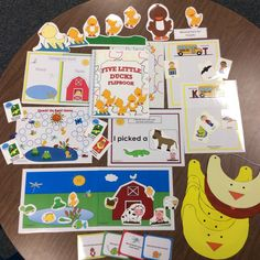 $ Five Little Ducks Unit: 15 Spring speech therapy and language activities: articulation of final /k/, basic concepts, description, categorization, Interactive story pieces. #speechsprouts
