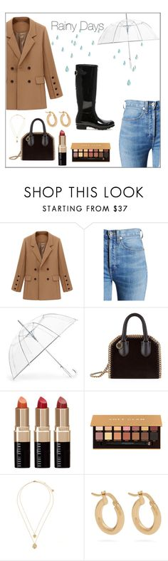"""O Rainy Days"" by brittany-pricexo ❤ liked on Polyvore featuring RE/DONE, ShedRain, STELLA McCARTNEY, Bobbi Brown Cosmetics, Anastasia Beverly Hills, Anissa Kermiche, Hunter and rainydayoutfit"