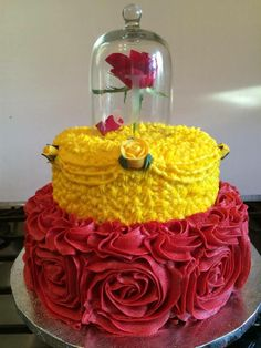 Beauty And The Beast Princess Belle Cake