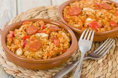 Chicken and sausage jambalaya Jambalaya Rice, Healthy Jambalaya, Chicken And Sausage Jambalaya, Sausage Rice, Chorizo, Batch Cooking, 20 Min, Wine Recipes, Slow Cooker Recipes