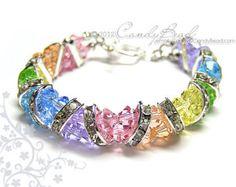 Swarovski Crystal Bracelet Sweet Tourmaline Crystal by candybead
