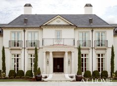 Design by James Michael Howard, Inc., Photographed by Nancy Nolan for @At Home in Arkansas Magazine  http://www.athomearkansas.com/article/new-traditional  #frontdoor #architecture #exterior
