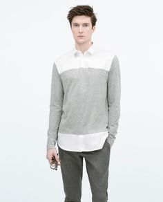 Image 1 of LONG-SLEEVED POLO SHIRT from Zara