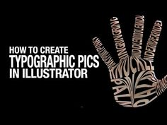 How to Create Typographic Pictures in Illustrator // Working with Type to Make Typographic Pictures - YouTube