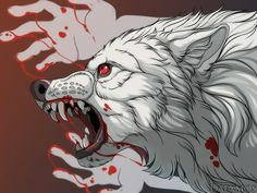 There's someone in the wolf Mythical Creatures Art, Fantasy Creatures, Izu, Dragons, Cartoon Wolf, Primitive, Wolf Illustration, Pix Art, Werewolf Art