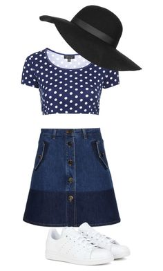 """""""Spring"""" by weneveroutofstyle on Polyvore featuring Valentino, adidas, Topshop, women's clothing, women's fashion, women, female, woman, misses and juniors"""