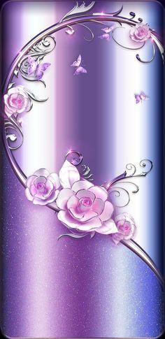 By Artist Unknown. iPhone X Wallpaper 436567757627983994 Flower Iphone Wallpaper, Bling Wallpaper, Flower Background Wallpaper, Luxury Wallpaper, Rose Wallpaper, Butterfly Wallpaper, Computer Wallpaper, Cellphone Wallpaper, Wallpaper Backgrounds