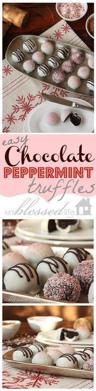 Easy Chocolate Peppermint truffles