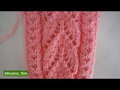 Punto (puntada) Fantasía Calado. Tejido con dos agujas # 265 - YouTube Knitting Stiches, Knitting Videos, Lace Knitting, Crochet Stitches, Knit Crochet, Crochet Hats, Knitting Designs, Knitting Patterns, Crochet Patterns
