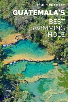 The limestone pools at Guatemala& Semuc Champey are some of the best in all of Central America. Belize, Places To Travel, Places To See, Travel Destinations, Honduras, Costa Rica, Atitlan Guatemala, Equador, Tikal