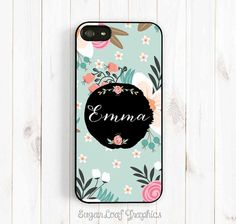 Monogrammed iPhone Case Shabby Chic Floral by SugarloafGraphics, $15.95