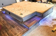 diy home theater riser Best Home Theater, Home Theater Rooms, Home Theater Seating, Home Theater Design, The Big Comfy Couch, Inexpensive Flooring, Best Flooring, Decorate Your Room, Basement Remodeling