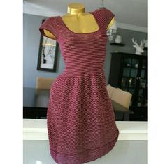 American Eagle dress Maroon colored with gold treading  Lightly worn 92% cotton  8% other fibers American Eagle Outfitters Dresses