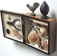 assemblage art  'sacredoce' by mylittlelovebox on Etsy, $499.00