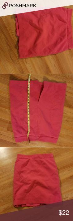 J crew skirt Pink pencil skirt J. Crew Skirts Pencil