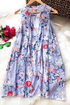 Sweet Vines Floral Trapeze Dress