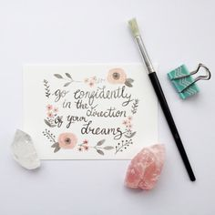 Go Confidently  Postcard by sarahfrancesart on Etsy