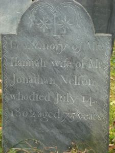Tombstone Tuesday: Mrs. HannahNelson