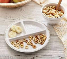 White Baby Cambria Divided Plate & Bowl Set | Pottery Barn Kids