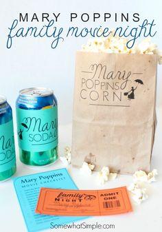 Mary Poppins Family Movie Night w/ free printables on iheartnaptime.com