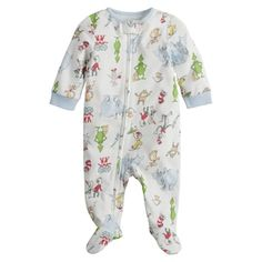 Baby Dr. Seuss Sleep & Play | Kohls Baby Girl Pajamas, Baby Girls, Gender Neutral Baby Clothes, Body Suit With Shorts, One Piece Pajamas, Striped Bodysuit, Printed Pants, Kids Wear, Baby Boy Outfits
