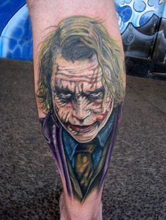 Joker tattoo idea @Caoilainn thought you'd like this x