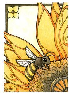 Deco Bee by ~KiriMothDesigns on deviantART