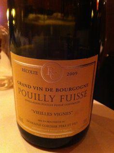 Pouilly Fuisse Vieilles Vignes 2009 Cordier