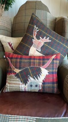Handmade Highland Cow Cushion by Countryhouseinterior on Etsy