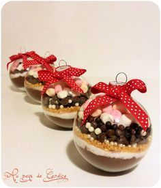 Boule de Noël pour un chocolat chaud gourmand – Au pays de Candice Christmas ball for a delicious hot chocolate – In the land of Candice Christmas Balls, Christmas Treats, Christmas Time, Nordic Christmas, Christmas Candles, Modern Christmas, Diy Holiday Gifts, Handmade Christmas Decorations, Diy Gifts