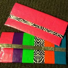 Duct tape pencil pouch.