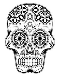 hard coloring page of sugar skull to print for grown ups coloring pages pinterest sugar skulls sugaring and printing - Free Abstract Coloring Pages