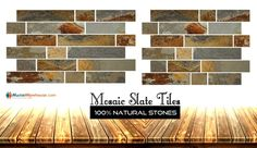 Marblewarehouse present to you, some of the finest collection of mosaic slate tiles which will prefect shoot to your floor. Be it your fire place, or kitchen backsplash mosaic slate is the best flooring option for You. Visit our online store and buy it online. #slate #mosaicslate #MosaicSlateTiles Best Flooring, Flooring Options, Kitchen Flooring, Kitchen Backsplash, Slate Tiles, Natural Stones, Mosaic, Fire, Collection