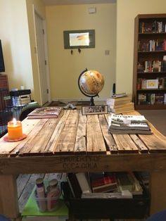 Pallet Coffee Table/Bookshelves