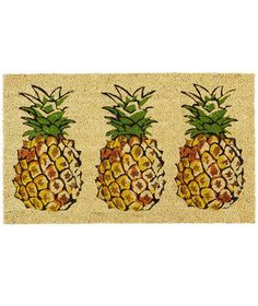 Pineapple Trio Doormat   As the first line of defense against dirt, these mats will protect your home from the elements, but also welcome visitors.