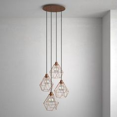 Okrúhla stropná rozeta, 35 cm so 4 otvormi, kovová, medená farba (3) Cage, Wind Chimes, Creations, Arts And Crafts, Chandelier, Ceiling Lights, Lighting, Pendant, Outdoor Decor