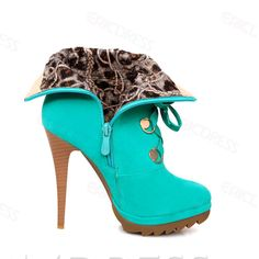 Fashion Green Velvet Closed Toe Paillette Stiletto Heel Short Boots 4
